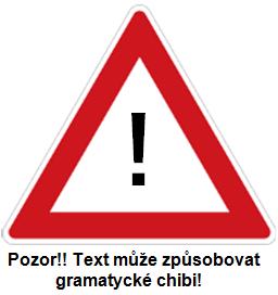 Pozor - text